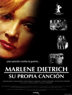 Marlene Dietrich: Her Own Song - Spanish Movie Poster (thumbnail)