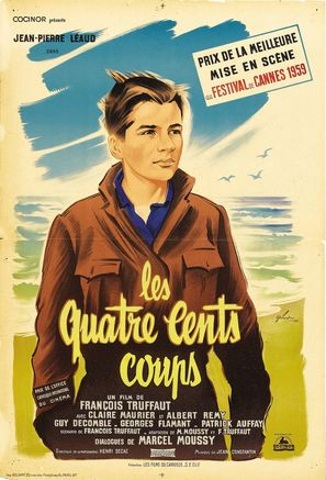 Les quatre cents coups - French Movie Poster (thumbnail)