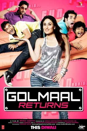 Golmaal Returns - Indian Movie Poster (thumbnail)