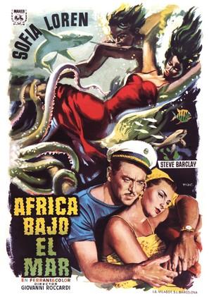Africa sotto i mari - Spanish Movie Poster (thumbnail)