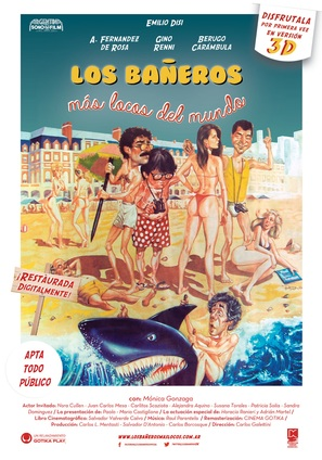 Los bañeros más locos del mundo - Argentinian Movie Poster (thumbnail)