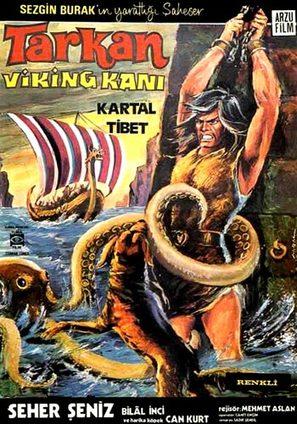 Tarkan Viking kani - Turkish Movie Poster (thumbnail)