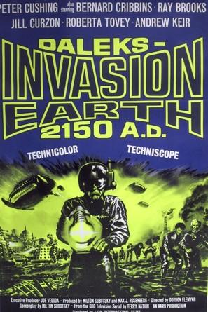 Daleks' Invasion Earth: 2150 A.D. - British Movie Poster (thumbnail)