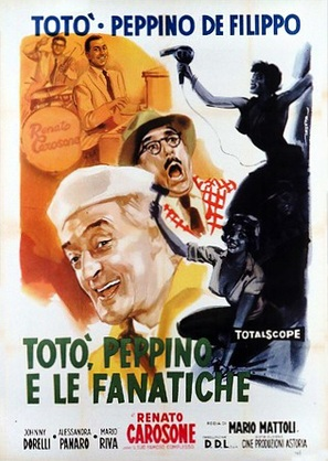 Totò, Peppino e le fanatiche - Italian Movie Poster (thumbnail)