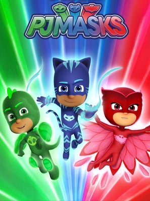 """PJ Masks"" - British Video on demand movie cover (thumbnail)"