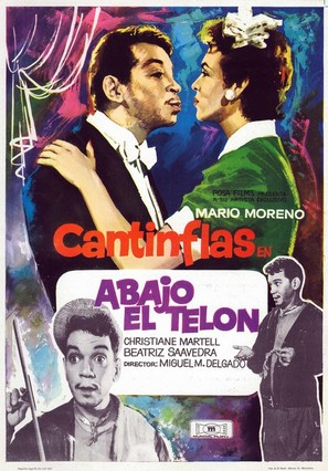 Abajo el telón - Spanish Movie Poster (thumbnail)