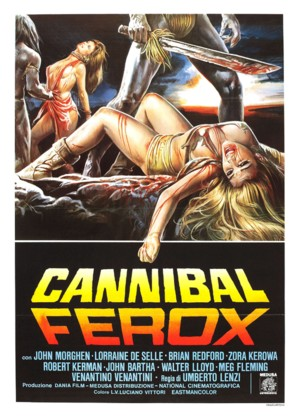 Cannibal ferox - Italian Movie Poster (thumbnail)