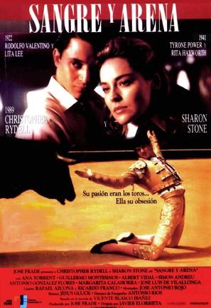 Sangre y arena - Spanish Movie Poster (thumbnail)