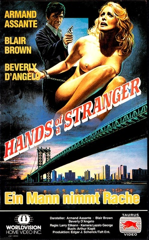 Hands of a Stranger - German VHS movie cover (thumbnail)