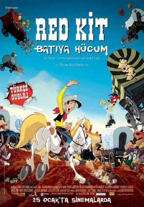 Tous à l'Ouest: Une nouvelle aventure de Lucky Luke - Turkish poster (thumbnail)