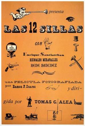 Las doce sillas - Cuban Movie Poster (thumbnail)