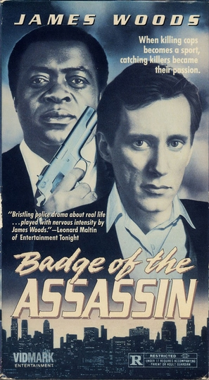 Badge of the Assassin - VHS movie cover (thumbnail)