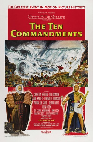 The Ten Commandments - Theatrical movie poster (thumbnail)