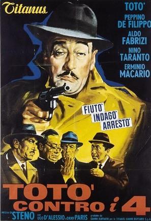 Totò contro i 4 - Italian Movie Poster (thumbnail)