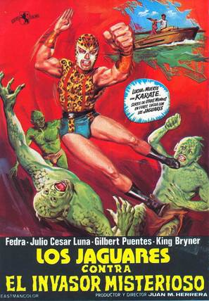 Los jaguares contra el invasor misterioso - Spanish Movie Poster (thumbnail)