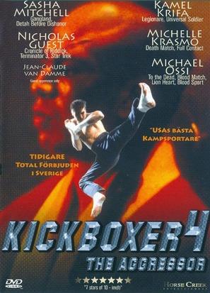 Kickboxer 4: The Aggressor - Swedish DVD movie cover (thumbnail)