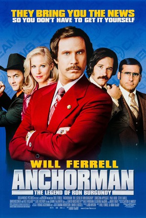 Anchorman: The Legend of Ron Burgundy - Movie Poster (thumbnail)