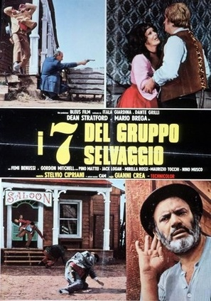 I sette del gruppo selvaggio - Italian Movie Poster (thumbnail)