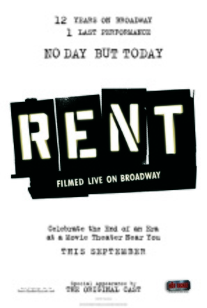 Rent: Filmed Live on Broadway - Movie Poster (thumbnail)