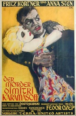 Der Mörder Dimitri Karamasoff - German Movie Poster (thumbnail)