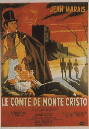 Le comte de Monte-Cristo - French Movie Poster (thumbnail)