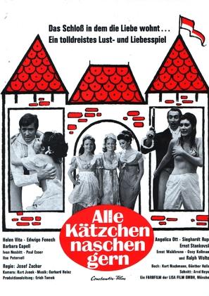 Alle Kätzchen naschen gern - German Movie Poster (thumbnail)