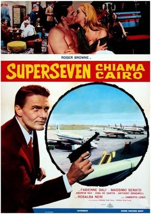 Superseven chiama Cairo - Italian Movie Poster (thumbnail)