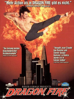 Dragon Fire - German VHS movie cover (thumbnail)