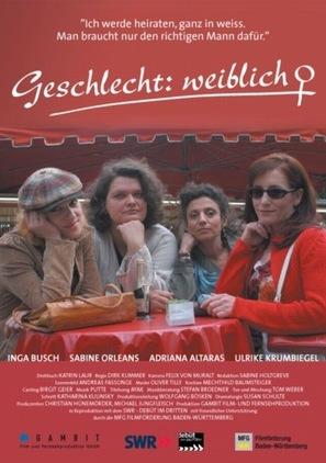 Geschlecht weiblich - German Movie Poster (thumbnail)