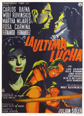 La última lucha - Mexican Movie Poster (thumbnail)