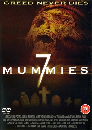 Seven Mummies - British DVD cover (thumbnail)