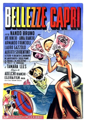 Bellezze a Capri - Italian Movie Poster (thumbnail)