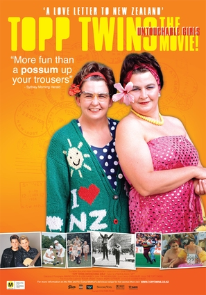The Topp Twins: Untouchable Girls - New Zealand Movie Poster (thumbnail)