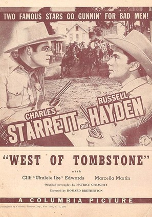 West of Tombstone - Movie Poster (thumbnail)