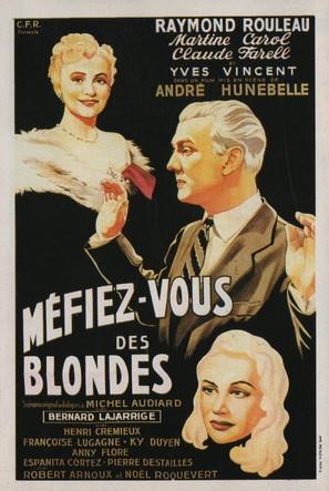 Méfiez-vous des blondes - French Movie Poster (thumbnail)