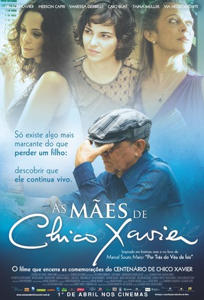 As Màes de Chico Xavier - Brazilian Movie Poster (thumbnail)