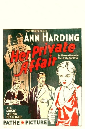 Her Private Affair - Movie Poster (thumbnail)
