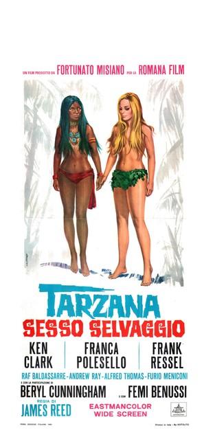 Tarzana, sesso selvaggio - Italian Movie Poster (thumbnail)