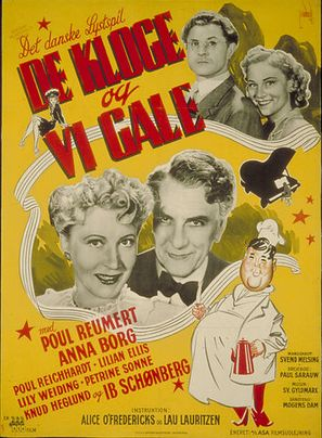 De kloge og vi gale - Danish Movie Poster (thumbnail)