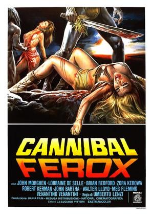 Cannibal ferox - Italian Movie Poster (thumbnail)