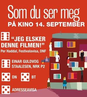 Som du ser meg - Norwegian Movie Poster (thumbnail)