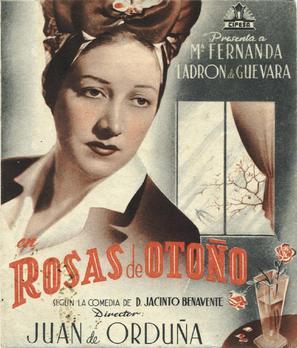 Rosas de otoño - Spanish Movie Poster (thumbnail)