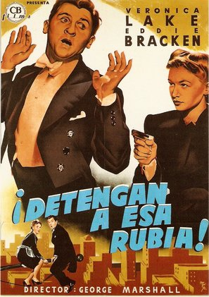 Hold That Blonde - Spanish Movie Poster (thumbnail)
