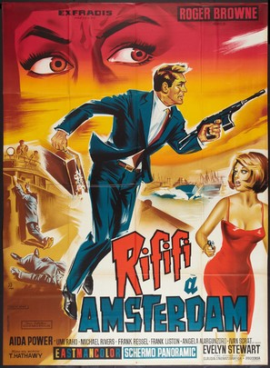 Rififí ad Amsterdam - French Movie Poster (thumbnail)