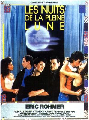 Les nuits de la pleine lune - French Movie Poster (thumbnail)