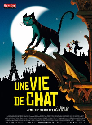 Une vie de chat - French Movie Poster (thumbnail)