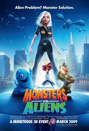 Monsters vs. Aliens - Movie Poster (thumbnail)