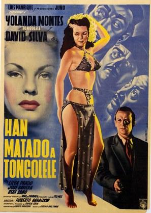 Han matado a Tongolele - Mexican Movie Poster (thumbnail)