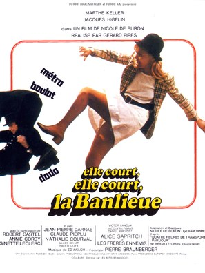Elle court, elle court la banlieue - French Movie Poster (thumbnail)