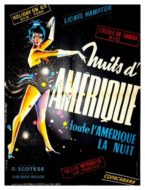 America di notte - French Movie Poster (thumbnail)